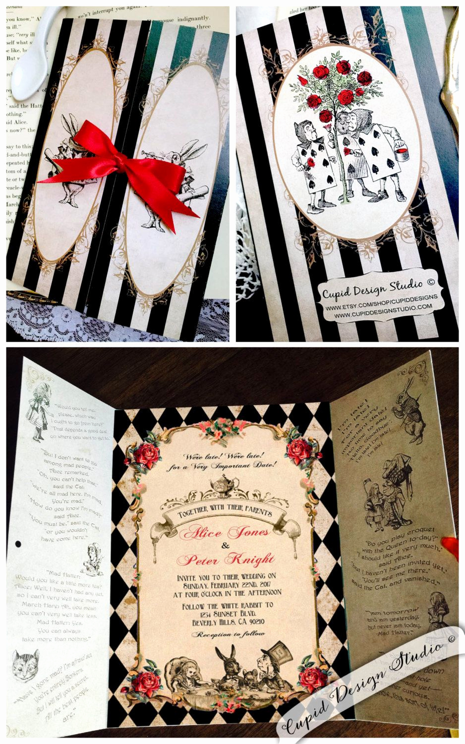 Mad Hatters Tea Party Invitation Unique New to Cupiddesigns On Etsy Elegant Alice In Wonderland