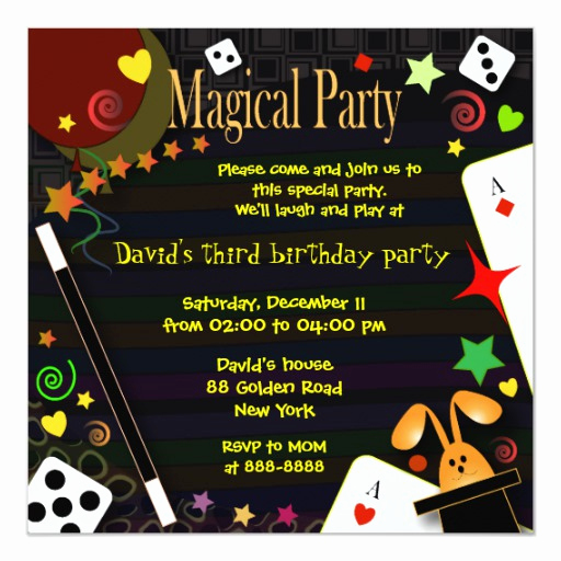 Magic Show Invitation Template Free Awesome Kids Birthday Invitation 043 Magical Party
