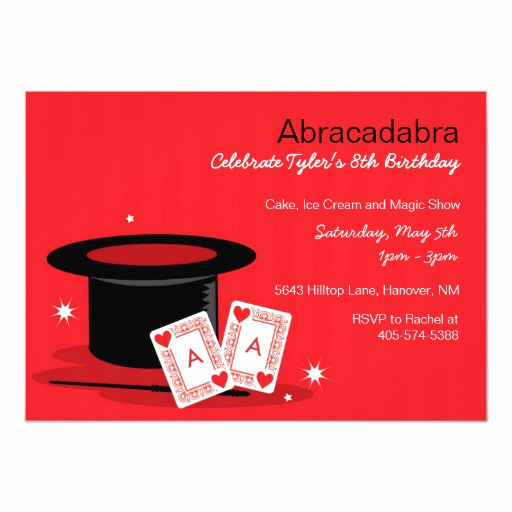 Magic Show Invitation Template Free Best Of Magic Show Birthday Invitations