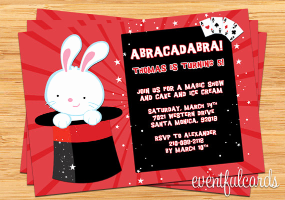 Magic Show Invitation Template Free Elegant Free Printable Magic Show Birthday Party Invitations
