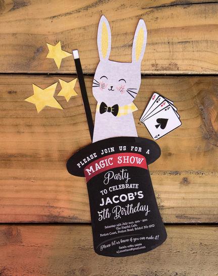 Magic Show Invitation Template Free Elegant Handmade Magic Show Printable Party Invitation Only £5 00