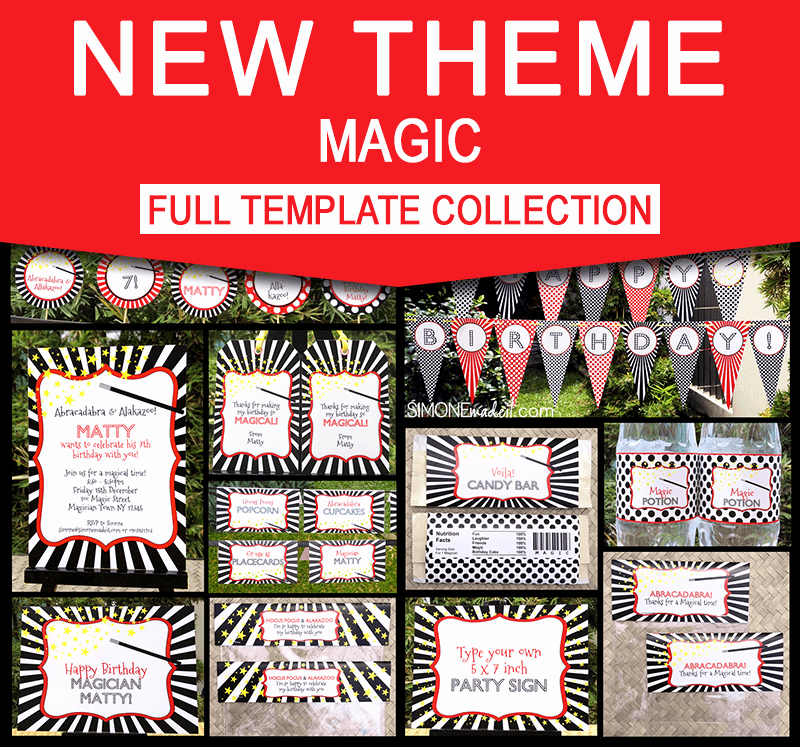 Magic Show Invitation Template Free Elegant Magic Party Printables Plete Birthday Party Collection