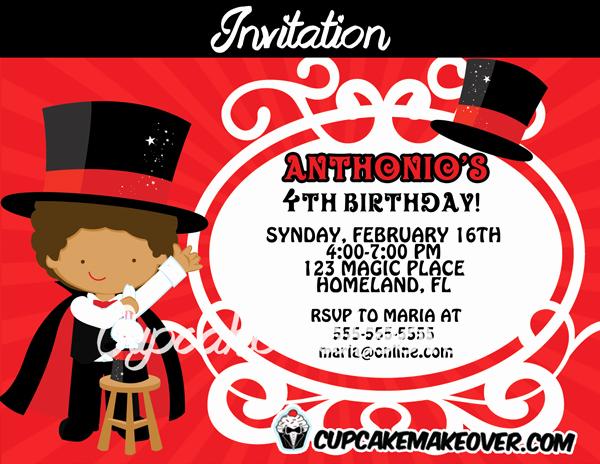 Magic Show Invitation Template Free Fresh Magic Birthday Party Invitation Personalized