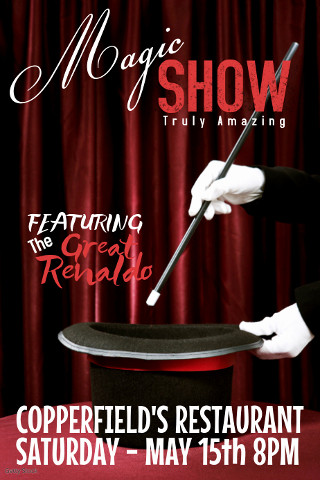 Magic Show Invitation Template Free Fresh Magic Show Template
