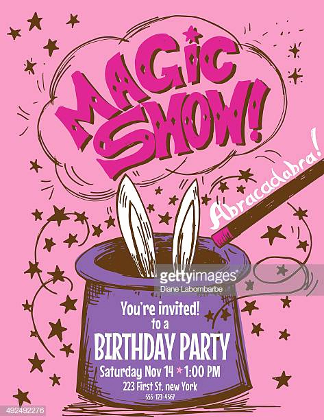 Magic Show Invitation Template Free New Magician Stock Illustrations and Cartoons