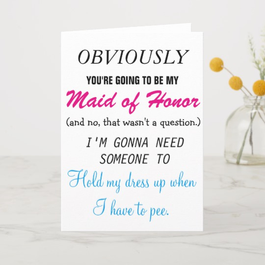 Maid Of Honor Invitation Ideas Beautiful Personalize Will You Be My Maid Of Honor Invitation