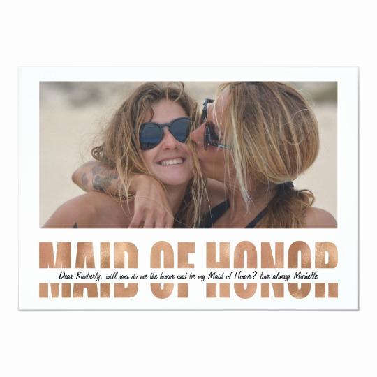 Maid Of Honor Invitation Ideas Best Of Personalize Will You Be My Maid Of Honor Invitation