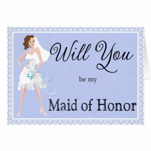 Maid Of Honor Invitation Ideas Fresh Be My Maid Of Honor Wedding Invitation Card