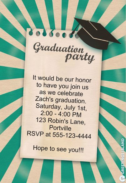 Make A Graduation Invitation Awesome Make Graduation Party Invitations
