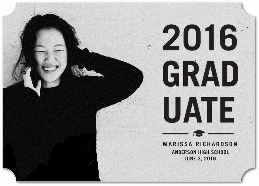 Make A Graduation Invitation Awesome This Simple Approach to Graduation Announcements is