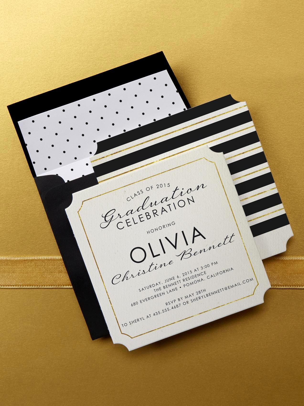 Make A Graduation Invitation Elegant Choose A Linen Graduation Invitation Design at Tiny Prints