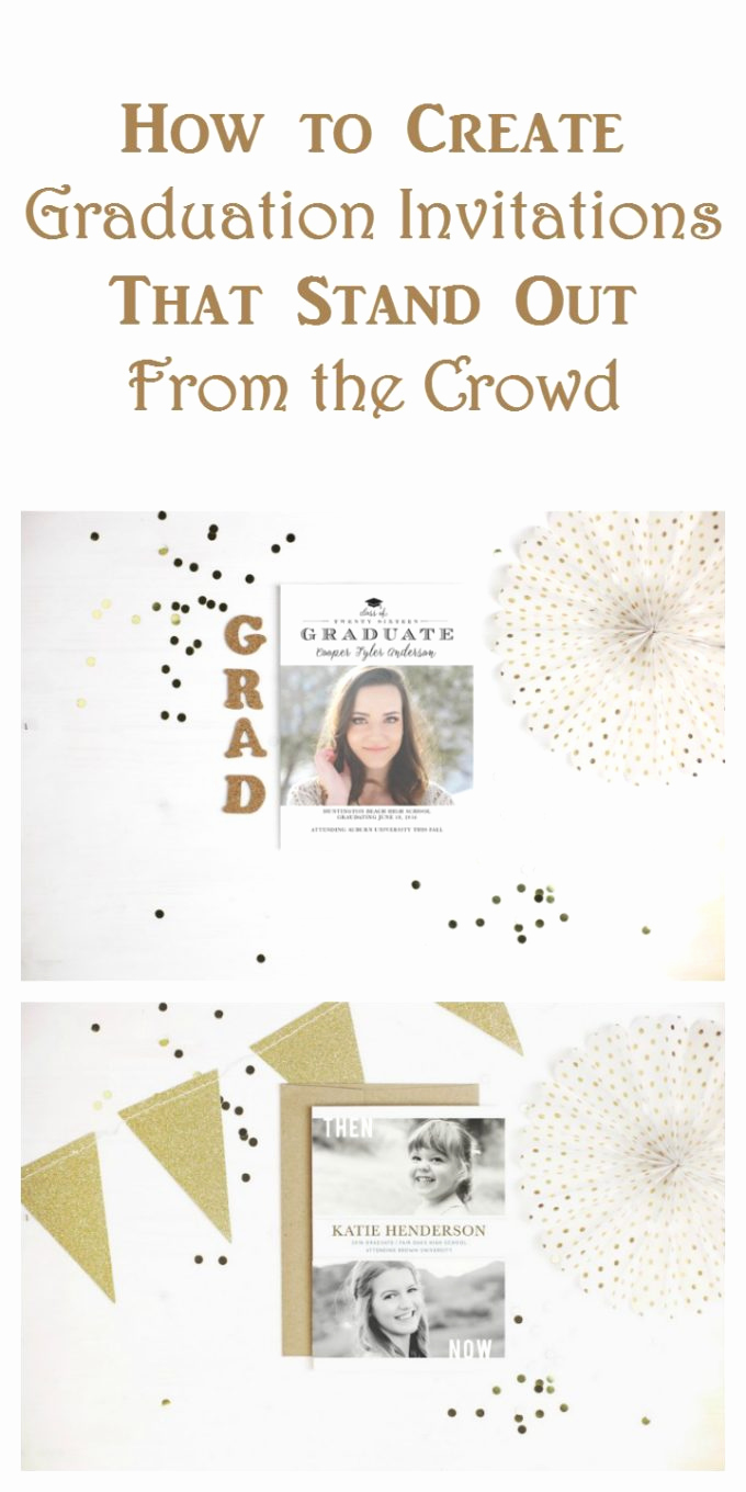 Make A Graduation Invitation Elegant Create Graduation Party Invitations that Stand Out From