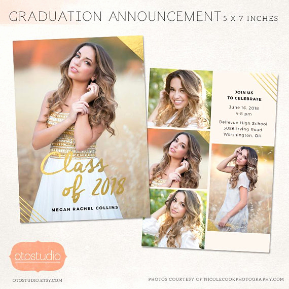 Make A Graduation Invitation Fresh Senior Graduation Announcement Template for Graphers Psd