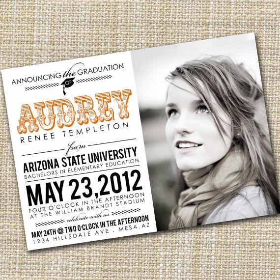 Make A Graduation Invitation Inspirational Photo Graduation Announcement Printable Celebrate by