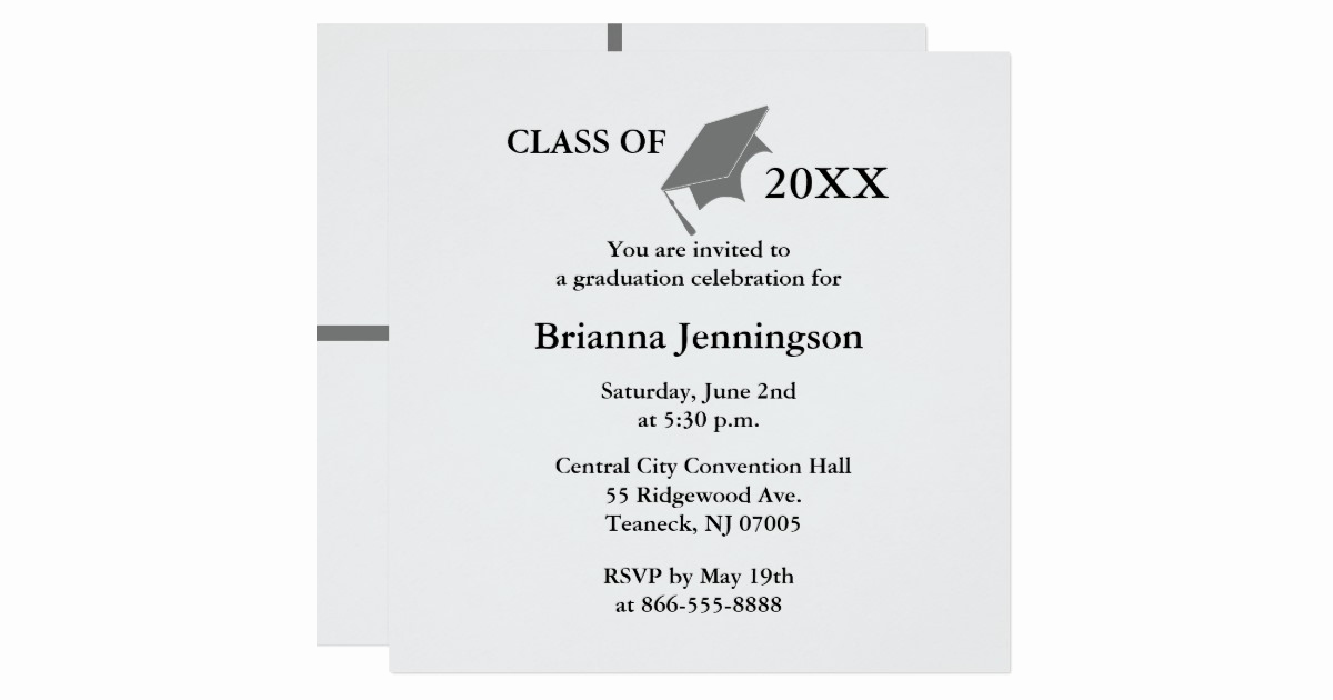 Make Your Own Graduation Invitation Luxury Create Your Own Graduation Invitation 3