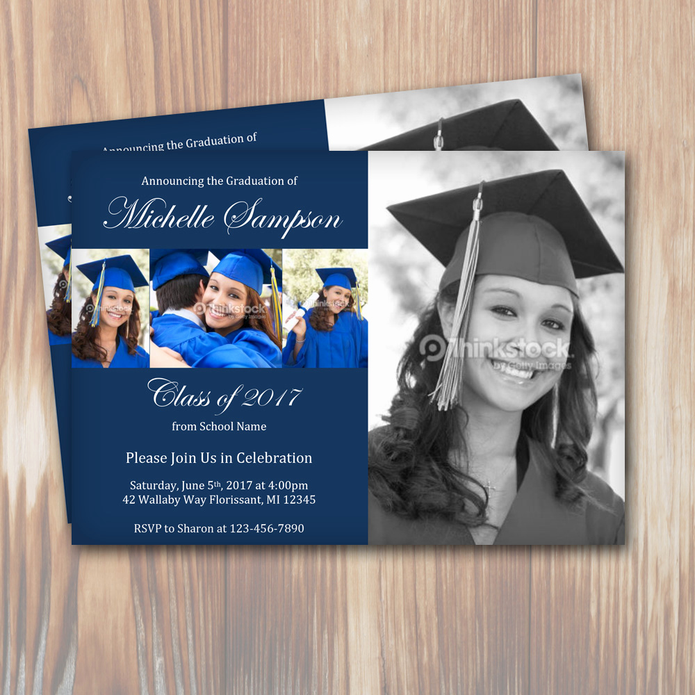 Make Your Own Graduation Invitation Luxury Customizable Color Graduation Party Invitation Template