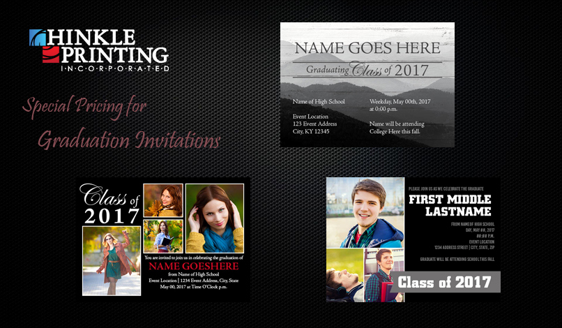 Make Your Own Graduation Invitation New Hinkle Printing · Invitations