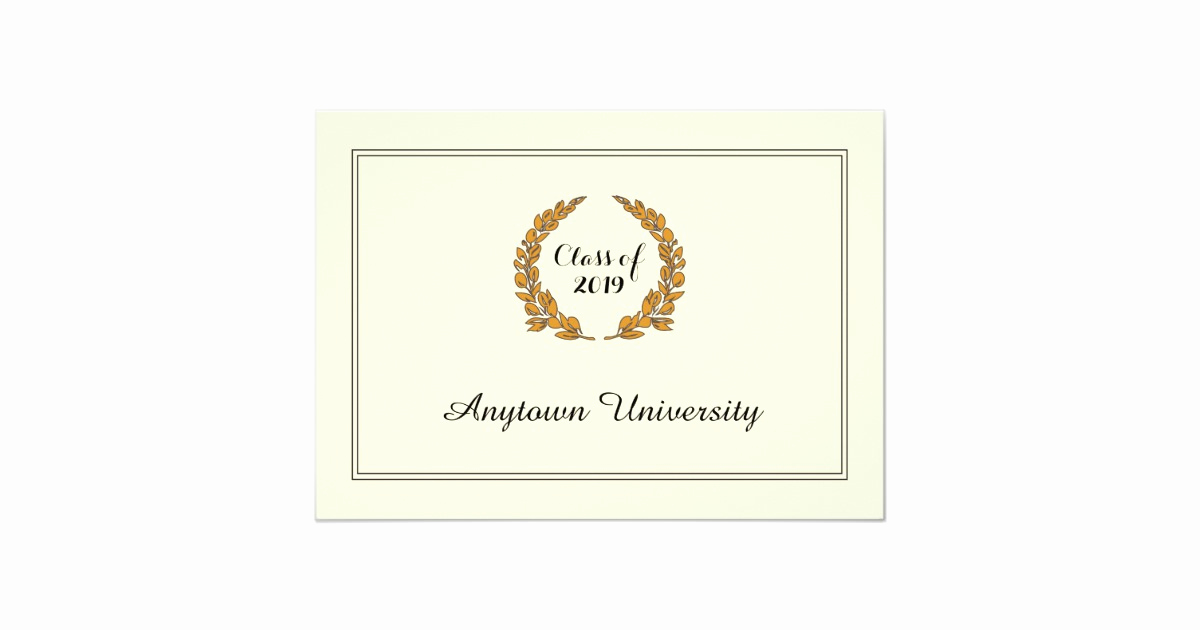 Make Your Own Graduation Invitation Unique Classic Traditional Style Graduation Announcement