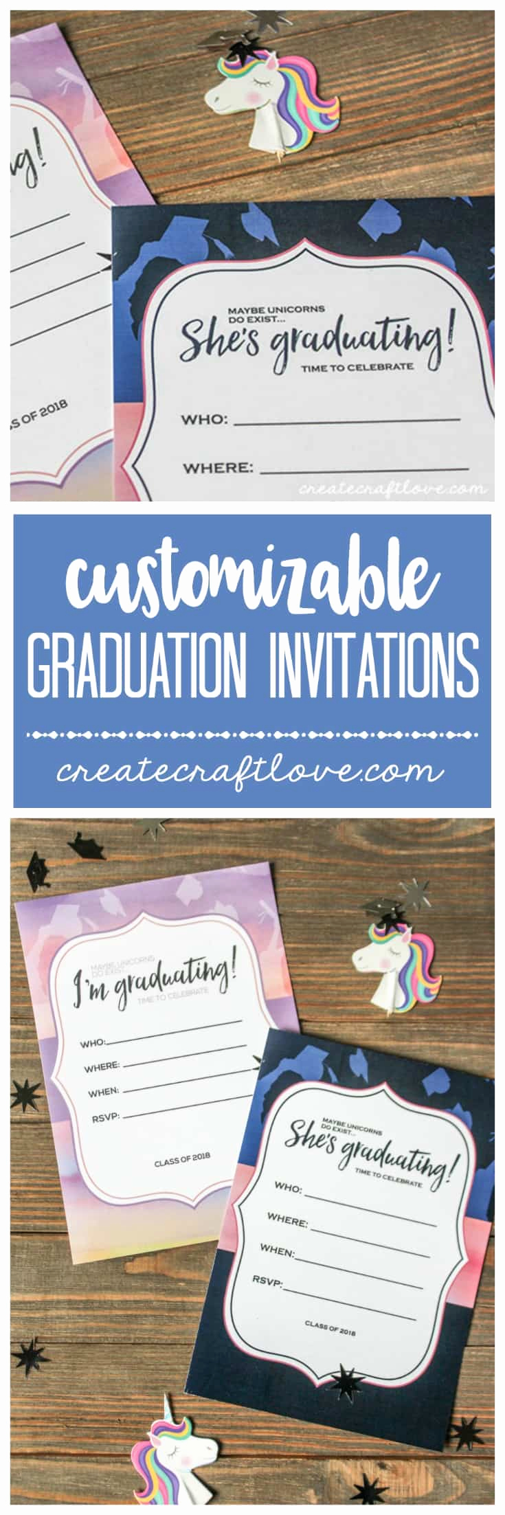 Make Your Own Graduation Invitation Unique Customizable Graduation Invitations Create Craft Love
