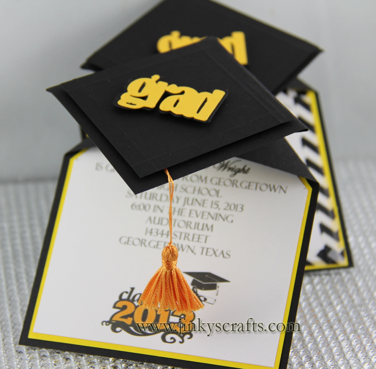 Making A Graduation Invitation Fresh 3d Graduation Cap Pop Up Invitations Jinkys Crafts