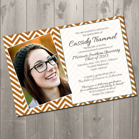 Making A Graduation Invitation Fresh Chevron Graduation Invitation Diy Printable Invitation