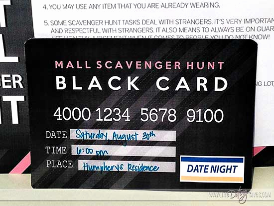 Mall Scavenger Hunt Invitation Beautiful Mall Scavenger Hunt Date Night