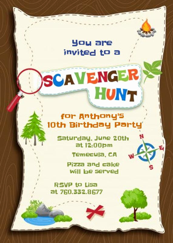 Mall Scavenger Hunt Invitation Lovely Scavenger Hunt Printable Birthday Party by Candlesandfavors