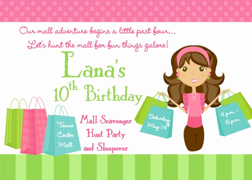 Mall Scavenger Hunt Invitation New Free Printable Mall Scavenger Hunt Birthday Party