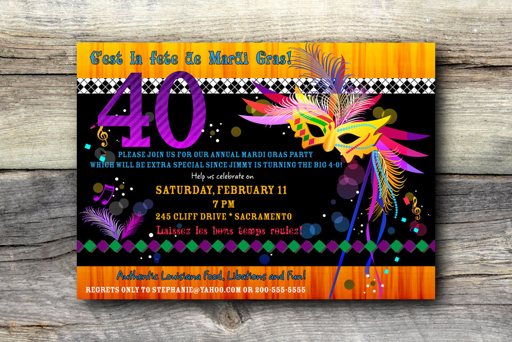 Mardi Gras Invitation Ideas Awesome Mardi Gras Invitation Bo Birthday Diy Printable