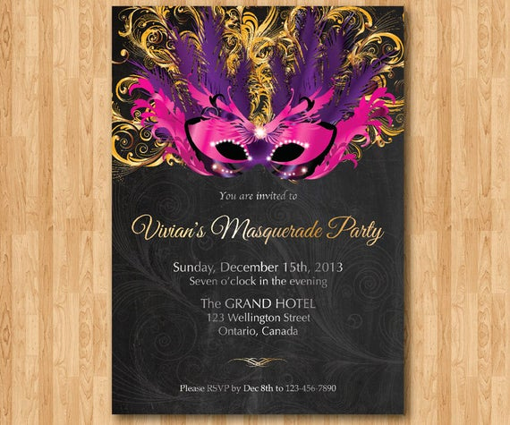 Mardi Gras Invitation Ideas Awesome Masquerade Party or Birthday Invitation Mardi Gras Invites