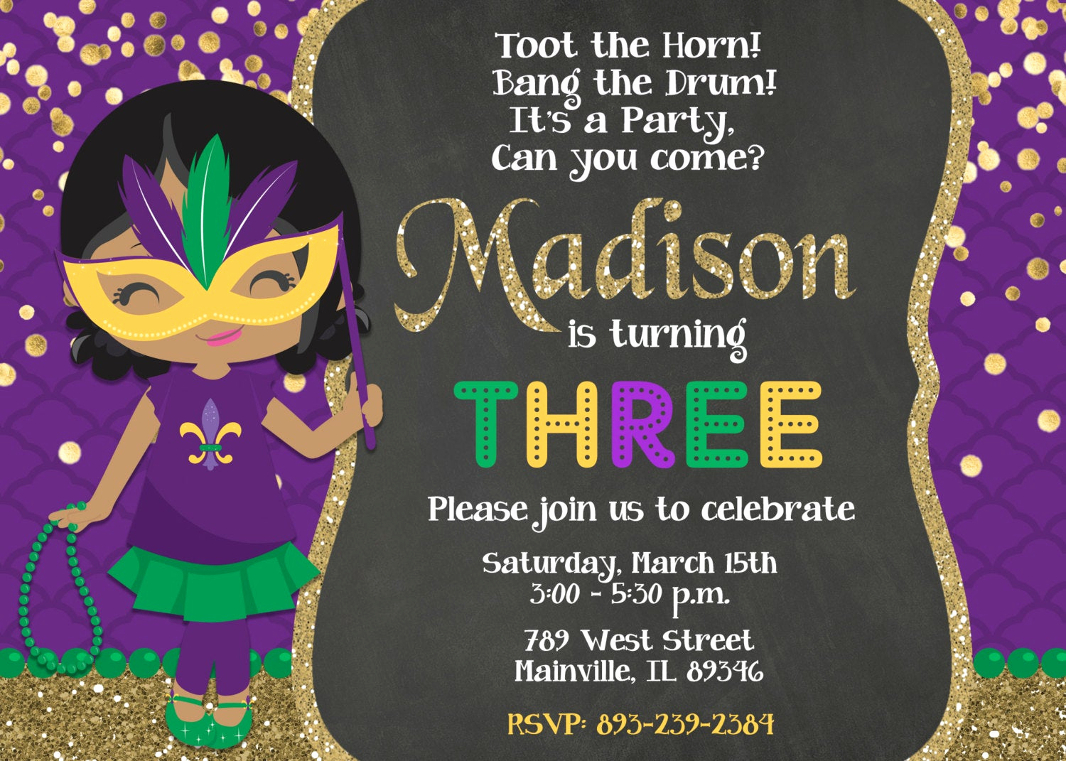 Mardi Gras Invitation Ideas Best Of Mardi Gras Birthday Party Invitation Mardi Gras Party theme