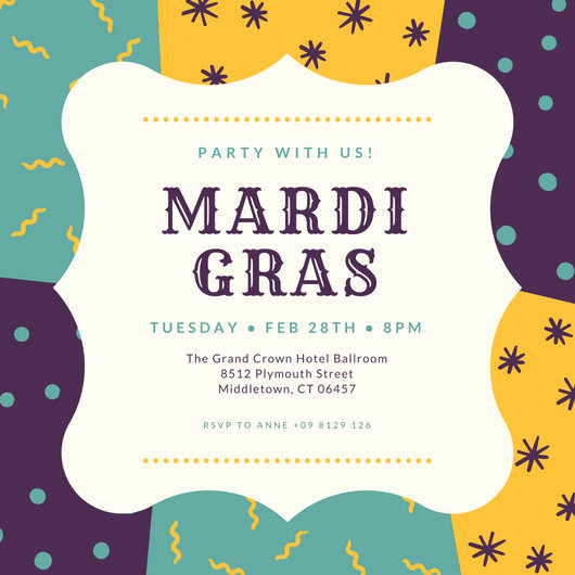 Mardi Gras Invitation Ideas Elegant Customize 88 Mardi Gras Invitation Templates Online Canva