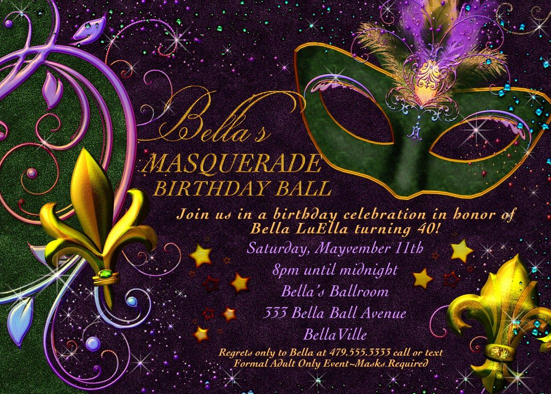Mardi Gras Invitation Ideas Elegant Free Printable Mardi Gras Invitation