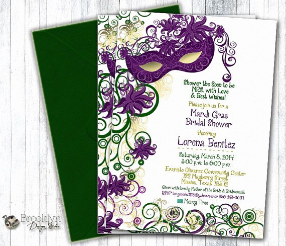 Mardi Gras Invitation Ideas Elegant This is A Custom Masquerade or Mardi Gras Party Invitation