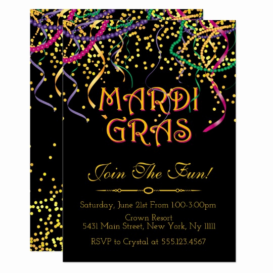 Mardi Gras Invitation Ideas Fresh Traditional Mardi Gras Invitations