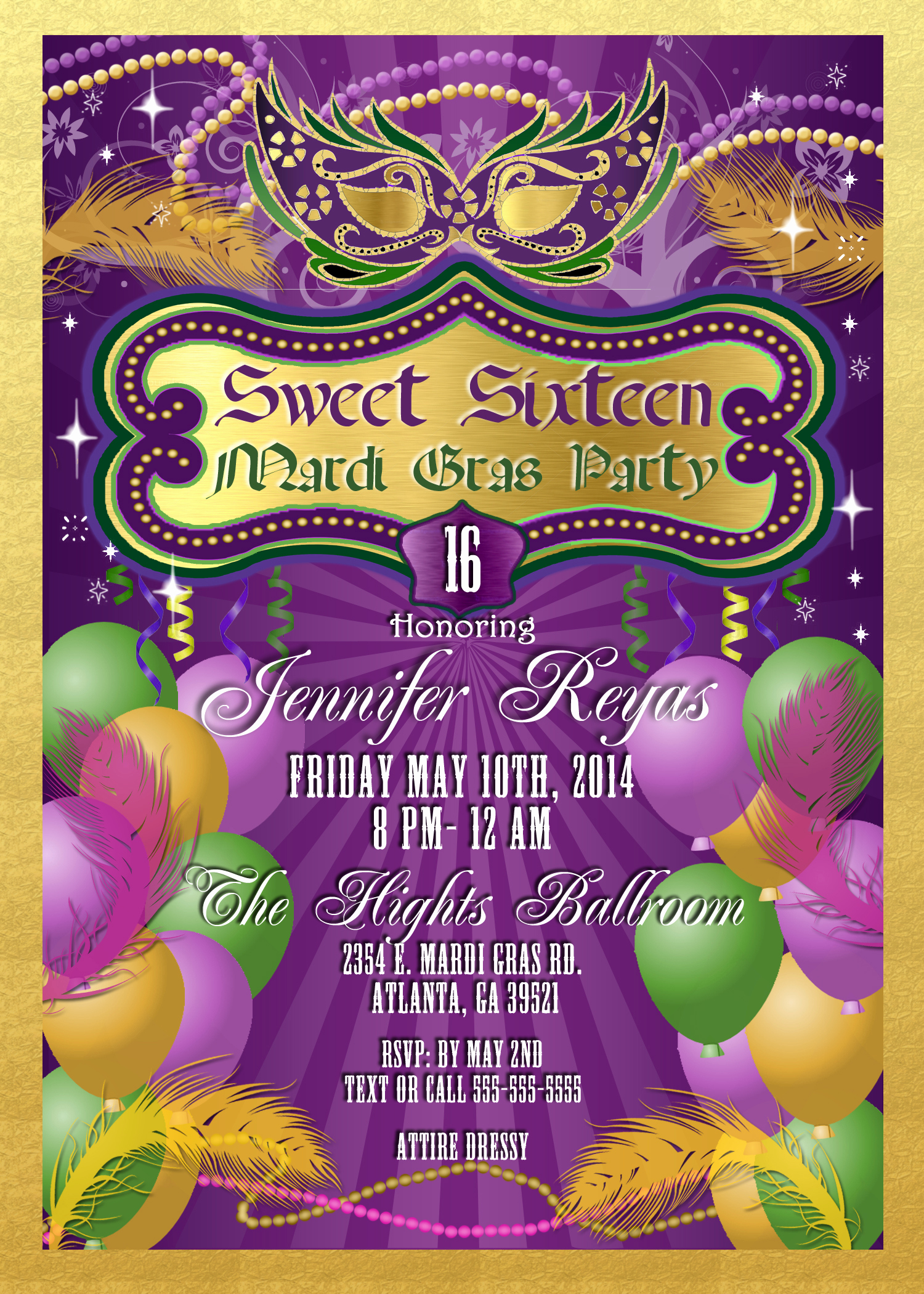 Mardi Gras Invitation Ideas Inspirational Mardi Gras and Masquerade Birthday Invitations