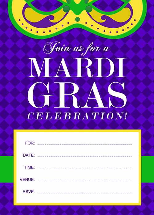 Mardi Gras Invitation Ideas Unique Free Printable Mardi Gras Invitation by Purecostumes