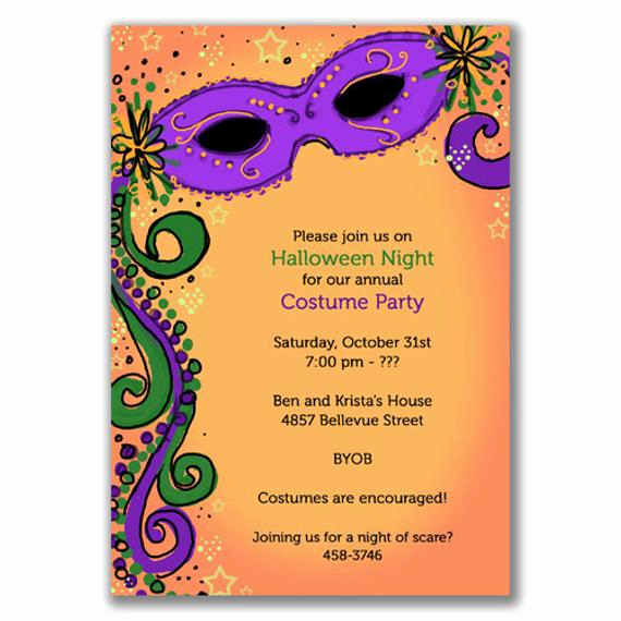 Mardi Gras Invitation Template Awesome Items Similar to Spooky Mardi Gras Invitations for