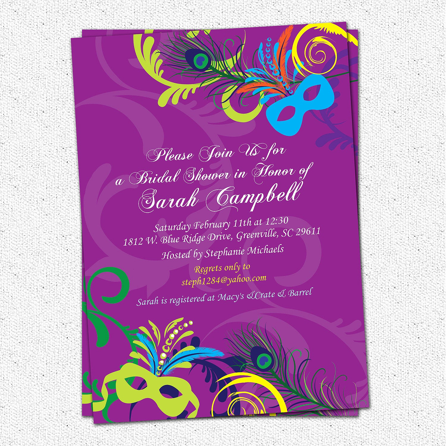 Mardi Gras Invitation Template Beautiful Bridal Shower Invitation Printable Mardigras Mardi Gras