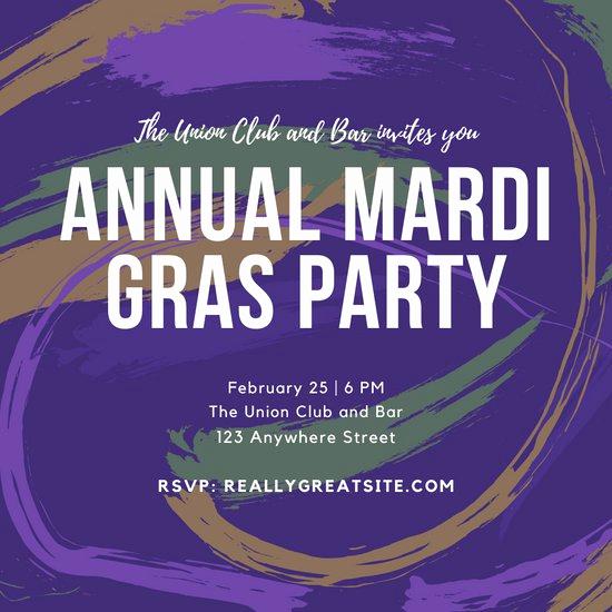 Mardi Gras Invitation Template Beautiful Customize 76 Mardi Gras Invitation Templates Online Canva