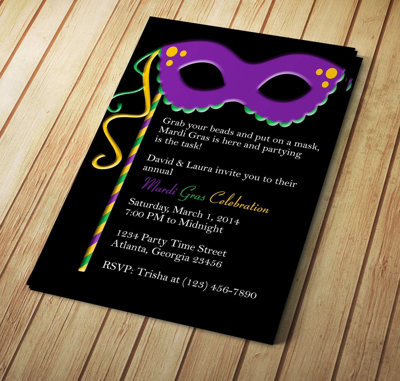 Mardi Gras Invitation Template Beautiful Mardi Gras Invitation Editable Template Microsoft Word