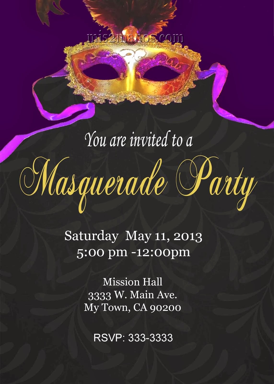 Mardi Gras Invitation Template Elegant Mardi Gras Invitation Free Printable