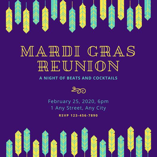 Mardi Gras Invitation Template Fresh Customize 88 Mardi Gras Invitation Templates Online Canva