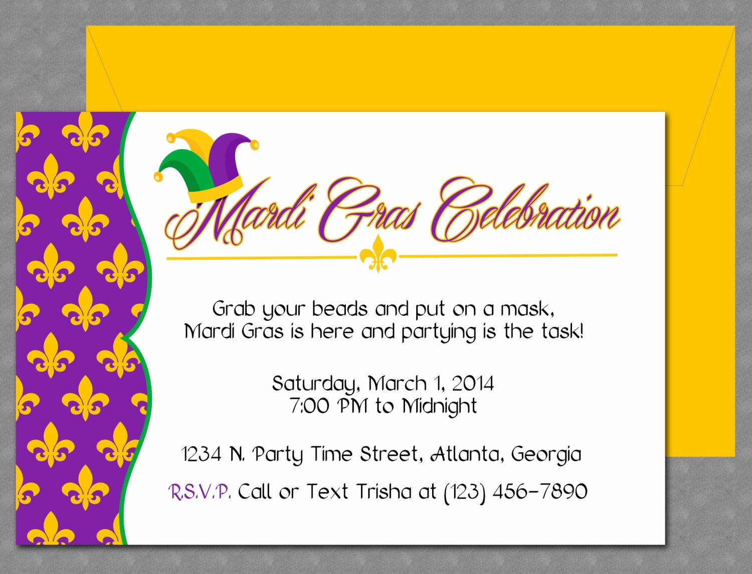Mardi Gras Invitation Template Fresh Mardi Gras Invitation Design Editable Template Microsoft