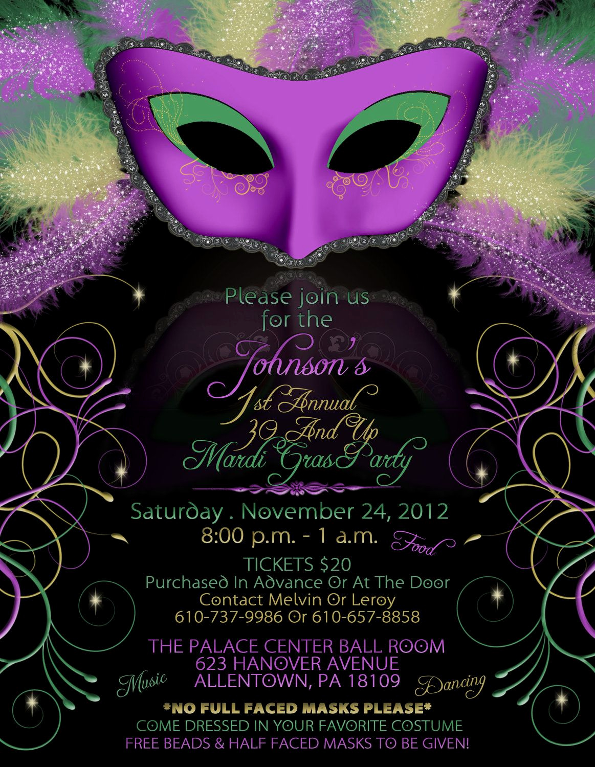 Mardi Gras Invitation Template Lovely Mardi Gras Birthday Party Invitations Mardi Gra