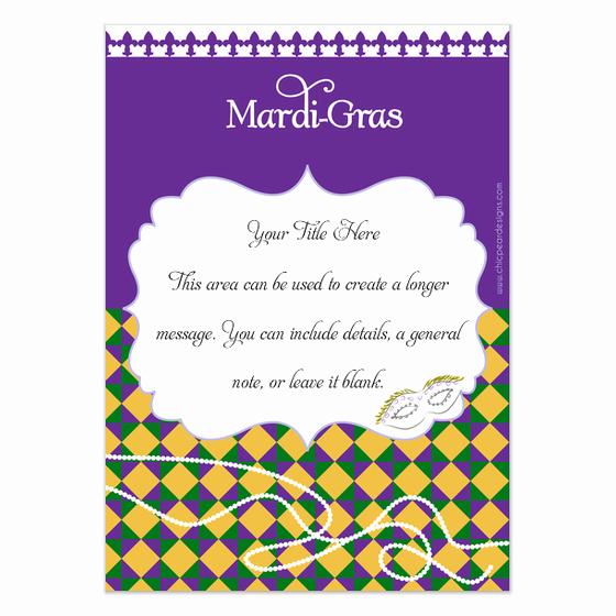 Mardi Gras Invitation Template Luxury Mardi Gras Invitations & Cards On Pingg