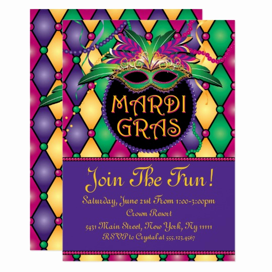 Mardi Gras Invitation Template New Fun and Festive Mardi Gras Invitations