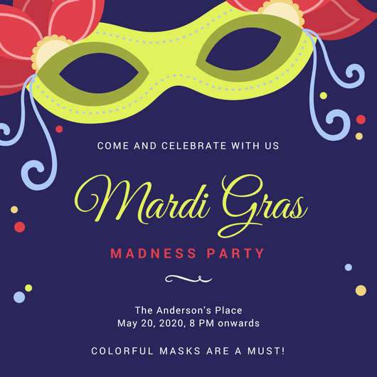 Mardi Gras Invitation Wording Awesome Customize 88 Mardi Gras Invitation Templates Online Canva