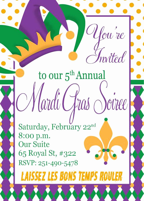 Mardi Gras Invitation Wording Beautiful Mardi Gras Invitation Diy Printable Invitation Mardi
