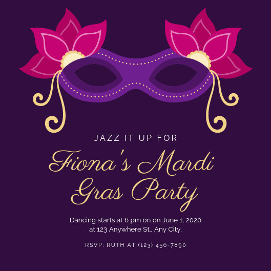 Mardi Gras Invitation Wording Best Of Customize 82 Mardi Gras Invitation Templates Online Canva